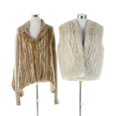 Rabbit Fur Knit Cardigan and Blue Fox Fur Vest Including Bullock's Wilshire