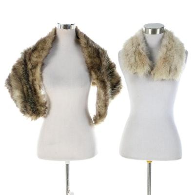 Fox Fur Collar and Raccoon Fur Stole