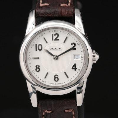 Coach Stainless Steel Quartz Wristwatch With Date