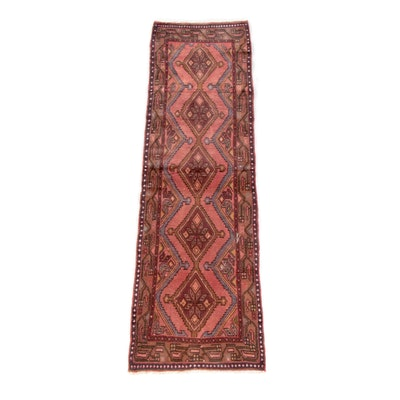 2'6 x 9'1 Hand-Knotted Persian Shiraz Wool Carpet Runner