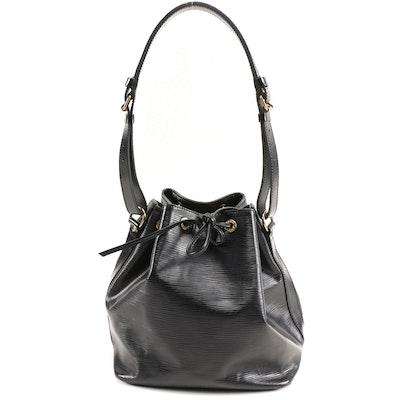Louis Vuitton Petit Noé Drawstring Bag in Noir Epi Leather
