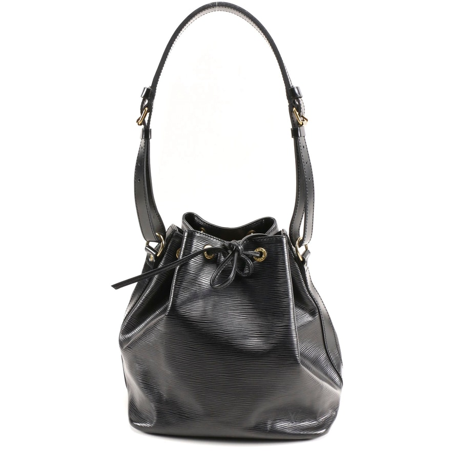 Louis Vuitton Petit Noé Drawstring Bag in Noir Epi Leather