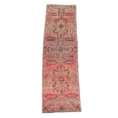 2'8 x 9'7 Hasnd-Knotted Persian Lilihan Wool Carpet Runner