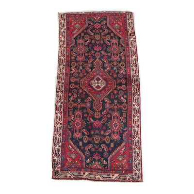 2'11 x 6'5 Hand-Knotted Persian Qashgai Wool Carpet Runner