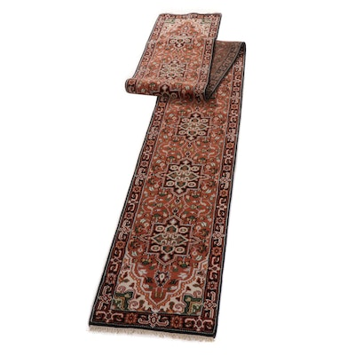2'5 x 20'3 Hand-Knotted Indo-Persian Heriz Long Rug Runner, circa 2010