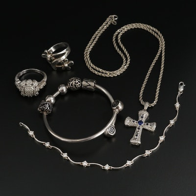 Sterling Silver Jewelry Assortment Featuring Chamilia® and Judith Ripka