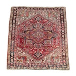 5'1 x 5'11 Hand-Knotted Persian Heriz Serapi Wool Rug