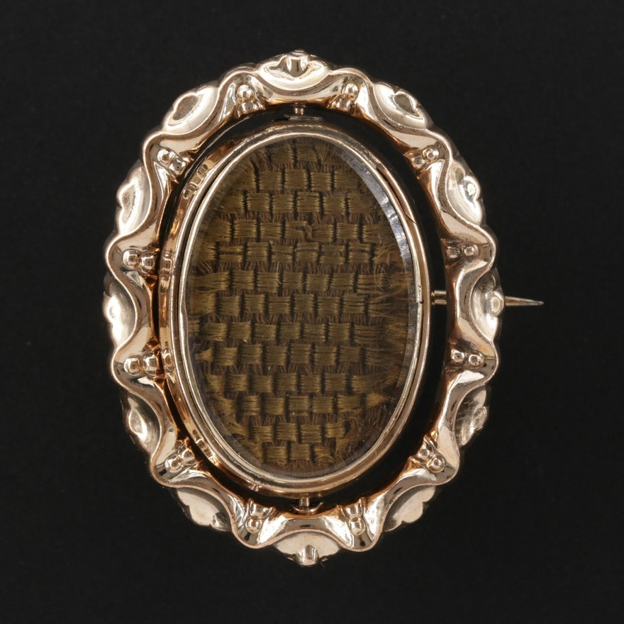 Victorian Mourning Reversible Brooch