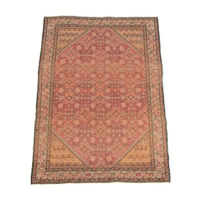 4'4 x 6'4 Hand-Knotted Persian Bijar Wool Rug