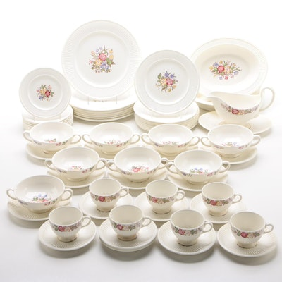 "Wedgwood ""Cavalier Meadow"" Earthenware Dinnerware, Mid-20th Century"