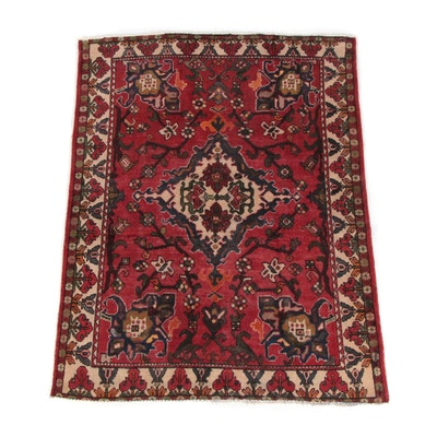 5'0 x 6'6 Hand-Knotted Turkish Oushak Wool Rug