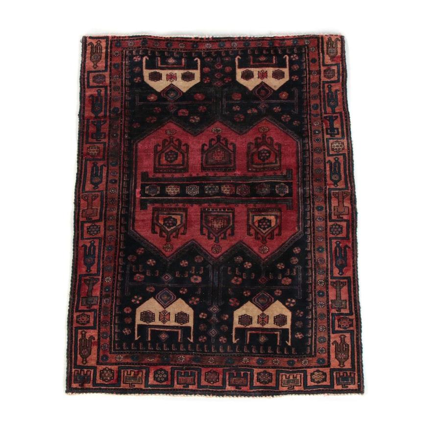 4'0 x 5'6 Hand-Knotted Persian Kolyai Wool Rug
