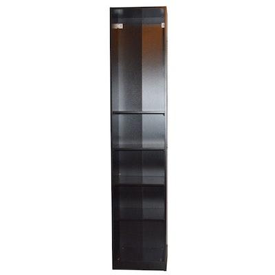 Black Laminate Bookshelf, Contemporary