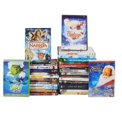 "Family, Disney and Christmas DVD Collection Including ""The Grinch"""