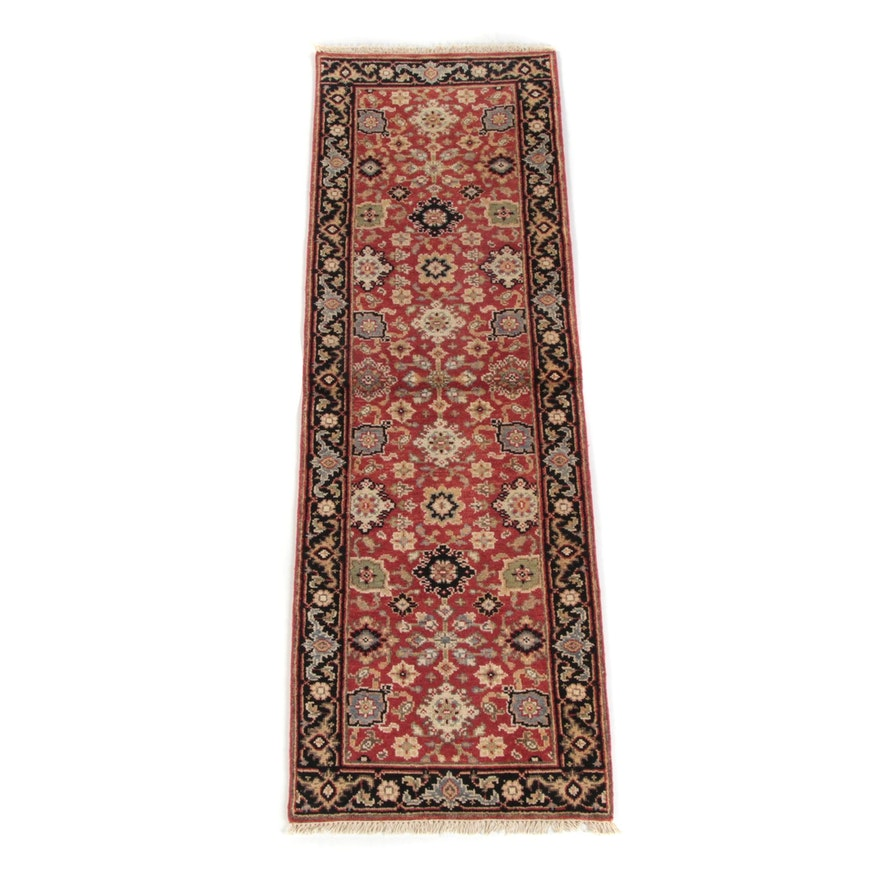 2'5 x 7'11 Hand-Knotted Indo-Persian Oushak Wool Carpet Runner