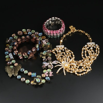 Multi-Colored Rhinestone Jewelry Assortment Featuring Rodrigo Otazu