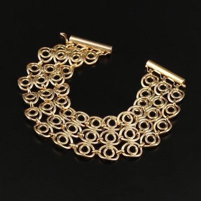 14K Yellow Gold Open Work Bracelet