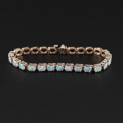 14K Yellow Gold Opal Bracelet