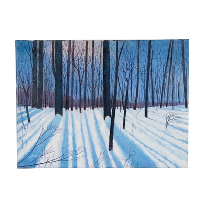 "J.C. Hall Acrylic Painting ""Winter Solstice"""