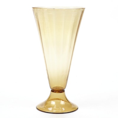 Steuben Bristol Yellow Art Glass Vase, Early 20th Century