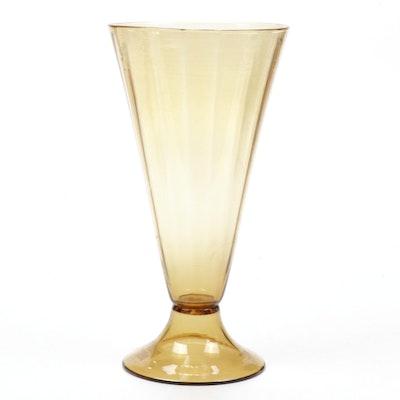 Steuben Bristol Yellow Art Glass Vase, Early 20th Century