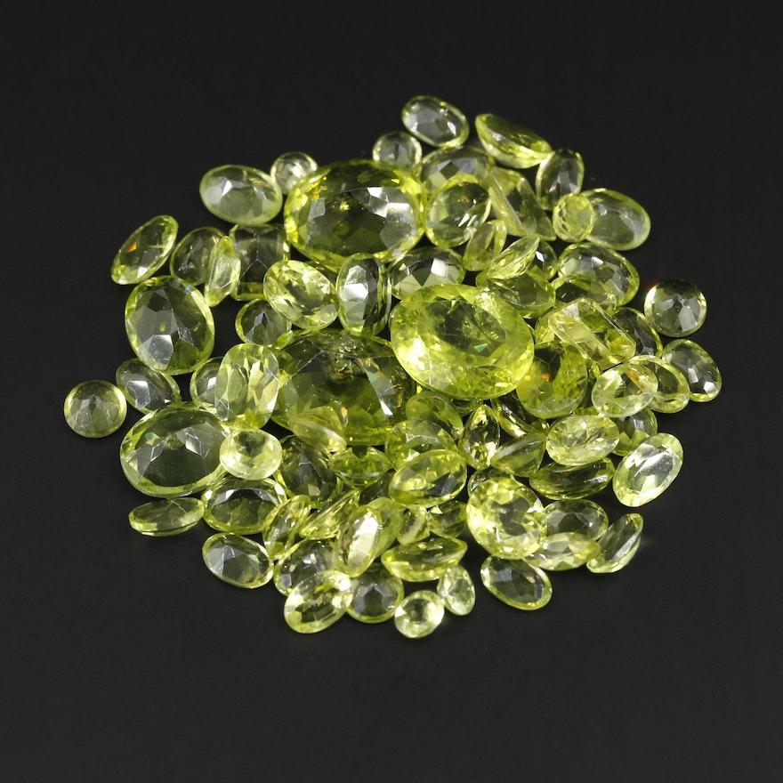 Loose 69.70 CTW Peridot Gemstones