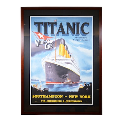 "Reproduction Lithograph ""Titanic: White Star Line"""