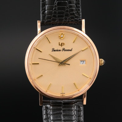 Lucien Piccard 14K Rose Gold and Diamond Accent Quartz Wristwatch
