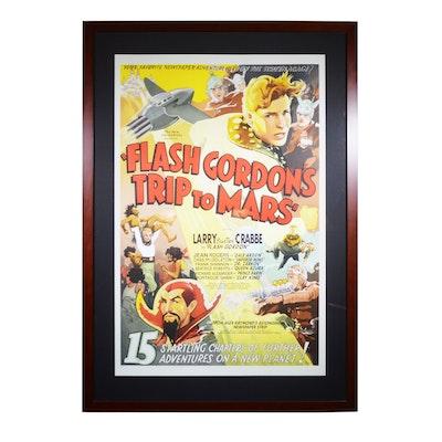 "Reproduction Lithograph ""Flash Gordon's Trip to Mars"""