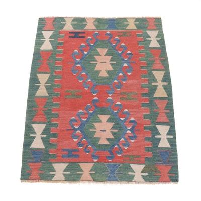3' x 3'8 Fine Handwoven Turkish Kilim Rug, circa 1970