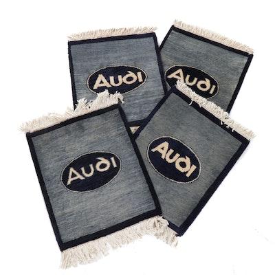 "1'3 x 1'9 Hand-Knotted Indo ""Audi"" Car Mats, circa 2000"