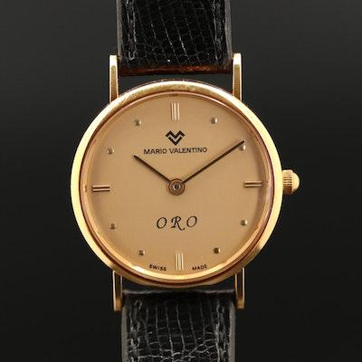 Mario Valentino ORO 18K Gold Quartz Wristwatch