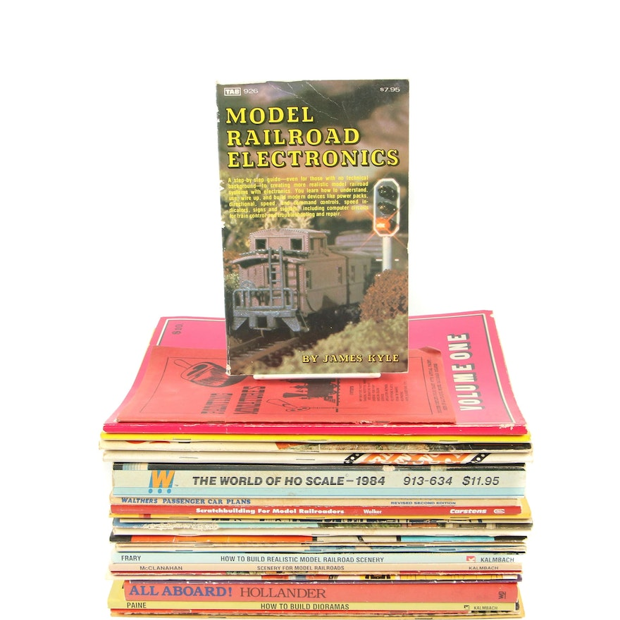 Model Railroading Book Collection including Scenery, Track Layout and Others