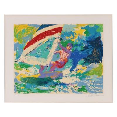 "LeRoy Neiman Serigraph ""Windsurfer"""