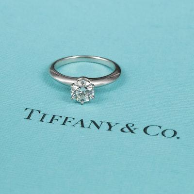 Tiffany & Co. Platinum 0.84 CT Diamond Solitaire Ring