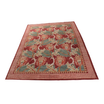 11'3 x 14' Knecht AG Hand-Knotted Swiss-Soumak Room Sized Rug
