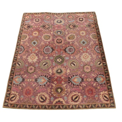 8'6 x 11'2 Hand-Tufted Indian Floral Wool Rug for The Rug Gallery
