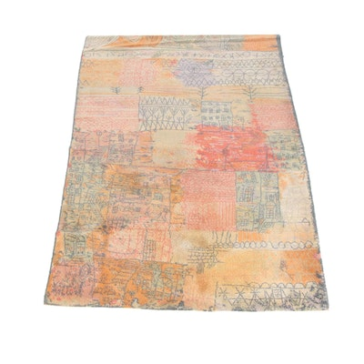 5'11 x 9'1 Machine Made Danish Axminster Art Collection Wool Rug after Paul Klee