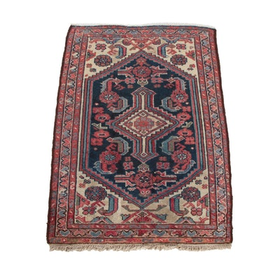 2'5 x 3'8 Hand-Knotted Persian Karajeh Wool Rug