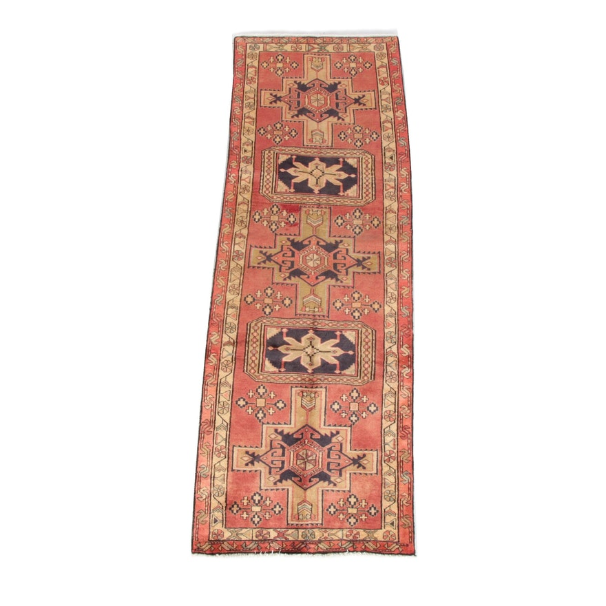 3'3 x 9'10 Hand-Knotted Persian Meskin Wool Long Rug