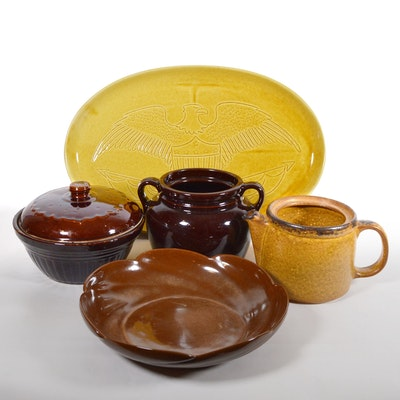 McCoy Pottery Teapot, Frankoma Pottery Bowl and More Pottery