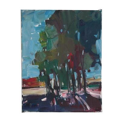 "Jose Trujillo Oil Painting ""Italian Gardens"""