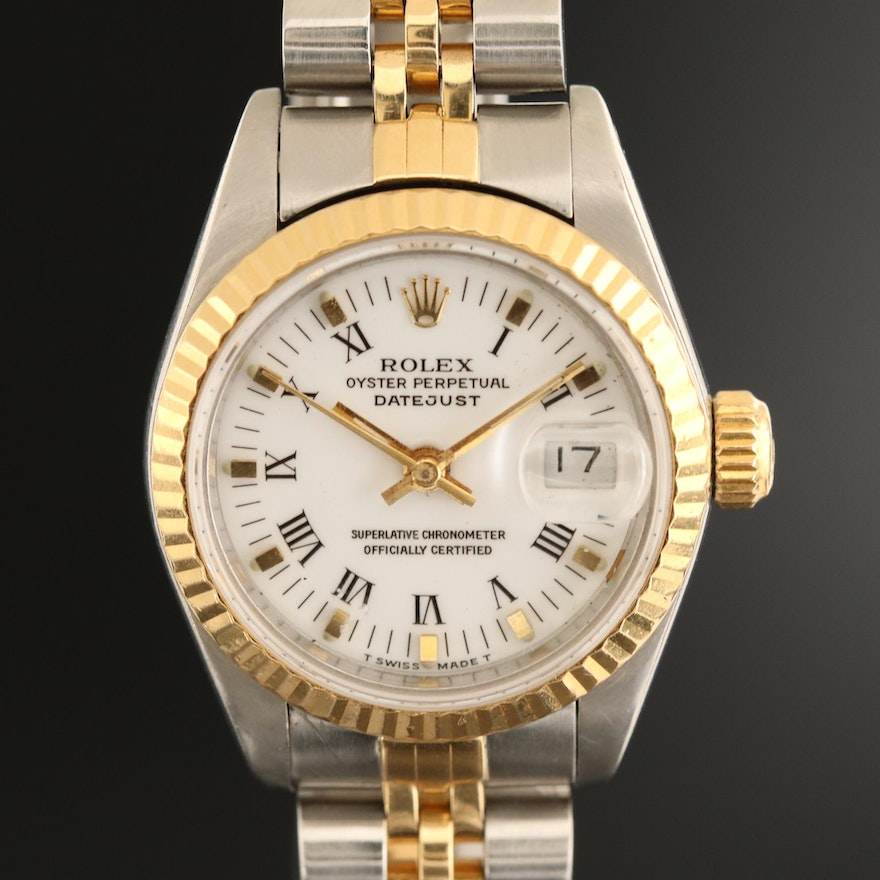 Rolex Datejust 18K Gold and Stainless Steel Automatic Wristwatch, 1991