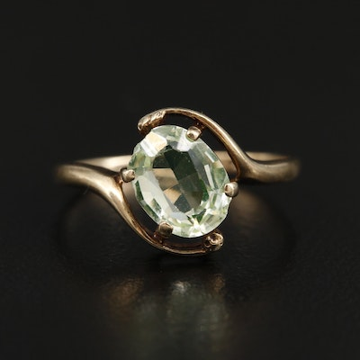 Vintage 10K Yellow Gold Spinel Ring