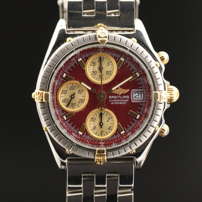 Breitling Chronomat GT 18K Gold and Stainless Steel Automatic Wristwatch