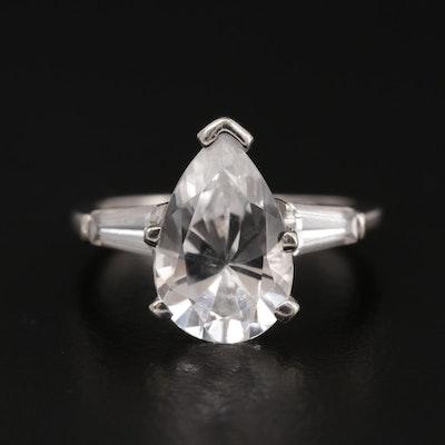 14K White Gold Spinel Ring