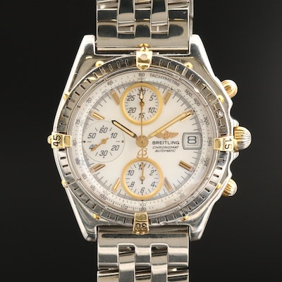 Breitling Chronomat GT18K Gold and Stainless Steel Wristwatch