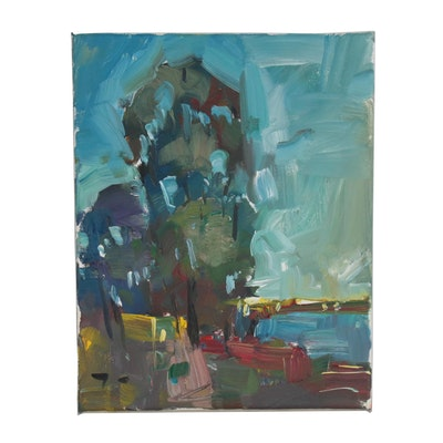 "Jose Trujillo Oil Painting ""Eucalyptus Light"""