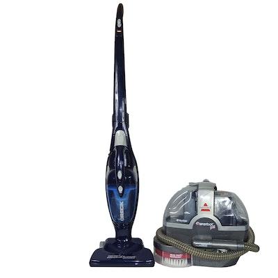 Bissell 33N8 Spotbot Pet Vacuum and Oreck Electrikbroom Quick Stick Vacuum