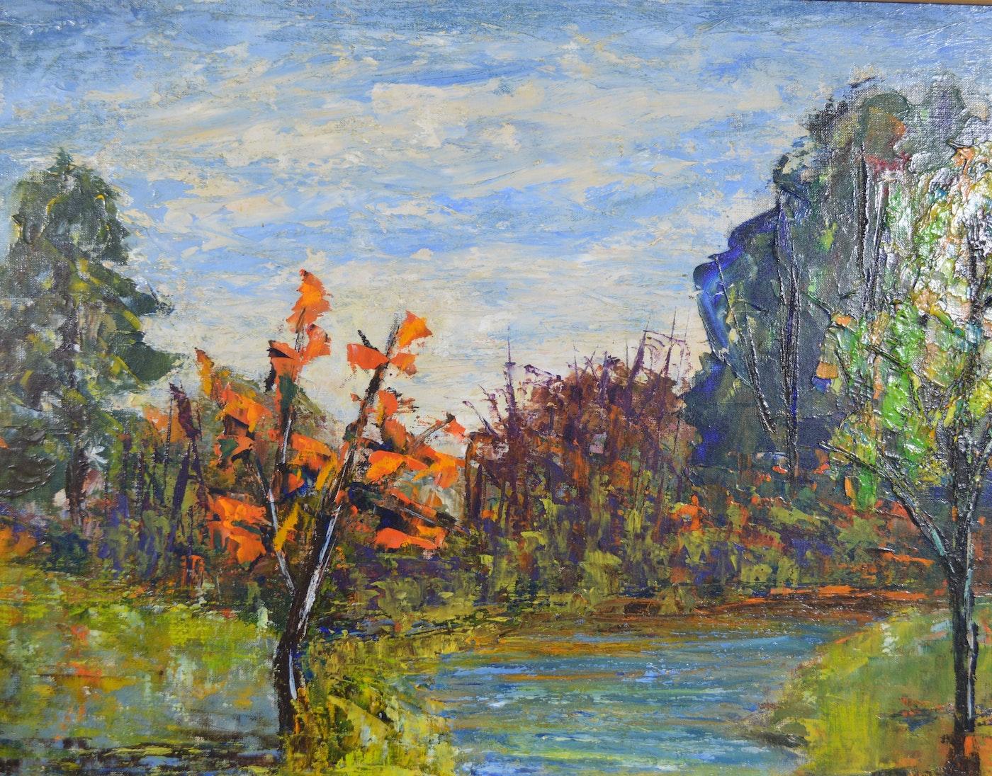 Gillis Impressionist Landscape Oil Painting